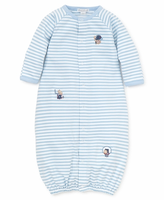 Kissy Kissy Baby Boys Blue Striped Fall Sports Converter Gown