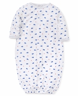 Kissy Kissy Baby Boys Blue Whales Converter Gown