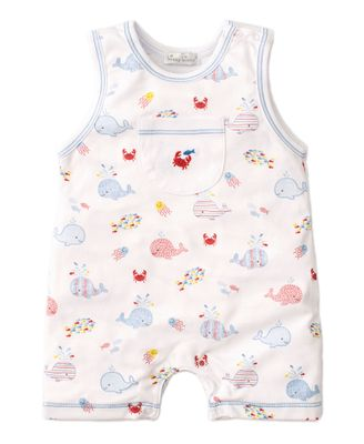 Kissy Kissy Baby Boys Blue Whale of a Time Sleeveless Playsuit Romper