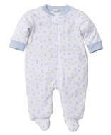 Kissy Kissy Baby Boys Blue / Yellow Super Stars & Moon Footie with Zipper