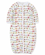 Kissy Kissy Baby Boys Converter Gown - Primary Colors Cars & Traffic Print