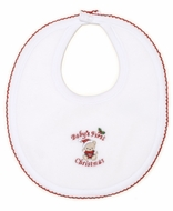 Kissy Kissy Baby Boys / Girls First Christmas Bib - White