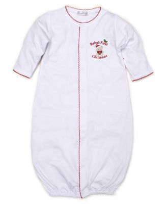 Kissy Kissy Baby Boys / Girls First Christmas Converter Gown - White