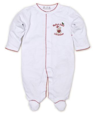 Kissy Kissy Baby Boys / Girls First Christmas Footie - White