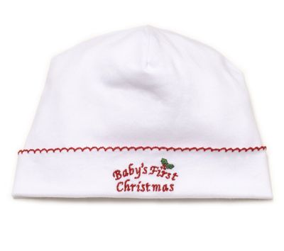 Kissy Kissy Baby Boys / Girls First Christmas Hat - White