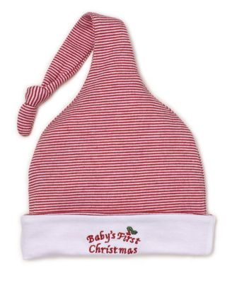 Kissy Kissy Baby Boys / Girls First Christmas Red Striped Stocking Hat
