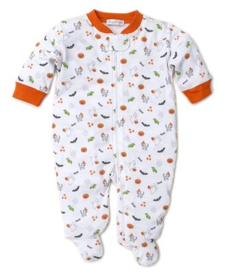 Kissy Kissy Baby Boys / Girls Halloween Fright Fest Zipper Footie - Print