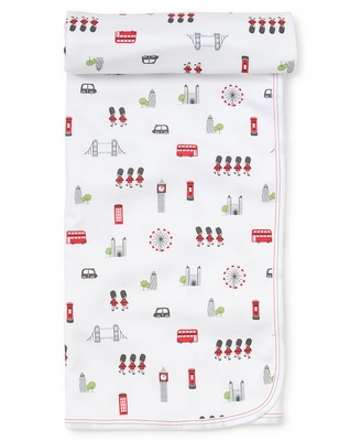 Kissy Kissy Baby Boys / Girls London Print Receiving Blanket