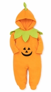 Kissy Kissy Baby Boys / Girls Orange Halloween Pumpkin Footie with Hood