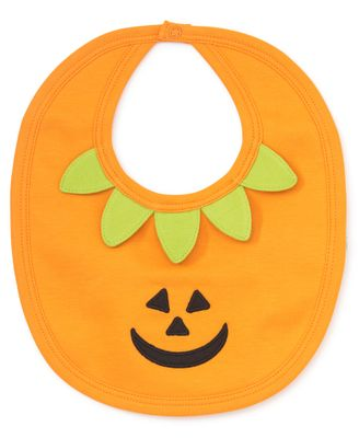 Kissy Kissy Baby Boys / Girls Orange Halloween Pumpkin Bib