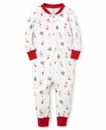 Kissy Kissy Baby Boys / Girls Red Christmas Holiday Print Pajamas with Zipper