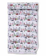 Kissy Kissy Baby Boys / Girls Red London Live Print Blanket
