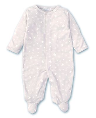 Kissy Kissy Baby Boys / Girls Silver Gray Starry Sky Footie