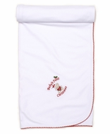 Kissy Kissy Baby Boys / Girls White First Christmas Blanket