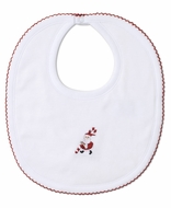 Kissy Kissy Baby Boys / Girls White Kris Kringle Santa Bib