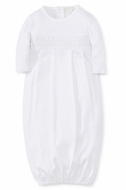 Kissy Kissy Baby Boys / Girls White Special Occasion Collection Smocked Gown