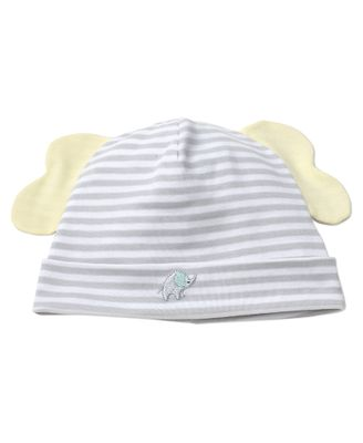 Kissy Kissy Baby Boys Gray Stripes / Yellow Ears Elephant Hugs Hat