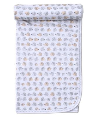 Kissy Kissy Baby Boys Gray / Tan Humble Hedgehogs Blanket