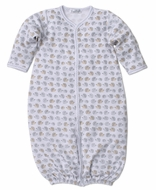 Kissy Kissy Baby Boys Gray / Tan Humble Hedgehogs Converter Gown