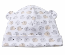 Kissy Kissy Baby Boys Gray / Tan Humble Hedgehogs Hat with Ears