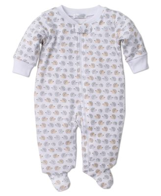 Kissy Kissy Baby Boys Gray / Tan Humble Hedgehogs Zipped Footie