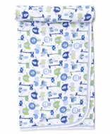 Kissy Kissy Baby Boys Jazzy Jungle Blanket - Blue