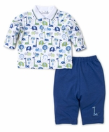 Kissy Kissy Baby Boys Jazzy Jungle Pant Set - Blue