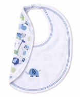 Kissy Kissy Baby Boys Jazzy Jungle Reversible Bib - Blue