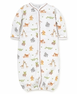 Kissy Kissy Baby Boys Jolly Jungle Safari Animals Print Converter Gown