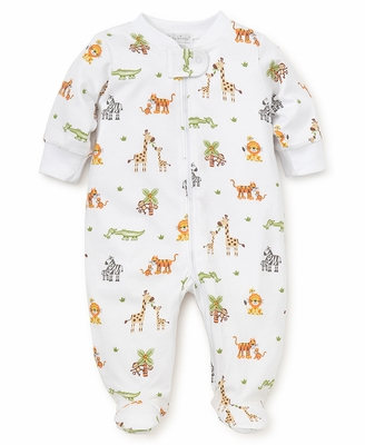 Kissy Kissy Baby Boys Jolly Jungle Safari Animals Print Footie with Zipper