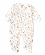 Kissy Kissy Baby Boys Jungle Joy Animals Print Footie with Zipper