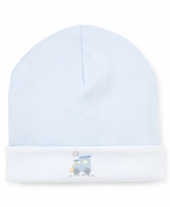 Kissy Kissy Baby Boys Light Blue Premier Train Embroidered Hat