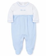 Kissy Kissy Baby Boys Light Blue Race Cars Footie