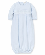 Kissy Kissy Baby Boys Light Blue Smocked Gown