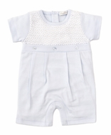 Kissy Kissy Baby Boys Light Blue Touch of Elegance Romper Playsuit