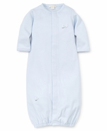 Kissy Kissy Baby Boys Light Blue Toy Ducks Embroidered Converter Gown