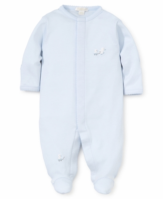 Kissy Kissy Baby Boys Light Blue Toy Ducks Embroidered Footie