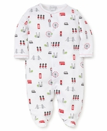 Kissy Kissy Baby Boys London Print Footie