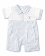 Kissy Kissy Baby Boys Premier Cottontails Blue Check Bunny Playsuit - Blue Collar