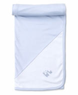 Kissy Kissy Baby Boys Premier Llama Family - Blue / White Blanket