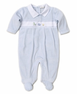 Kissy Kissy Baby Boys Premier Pull Toys Footie - Blue Velour