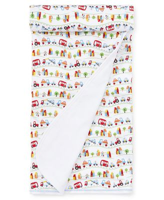 Kissy Kissy Baby Boys Primary Colors Cars & Traffic Print Receiving Blanket