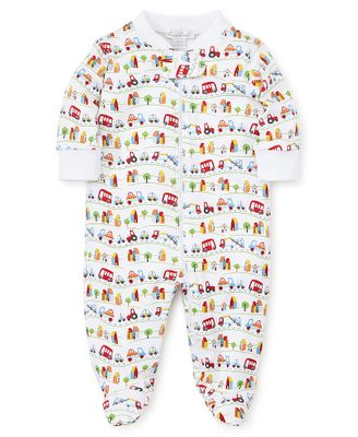 Kissy Kissy Baby Boys Primary Colors Footie with Zipper - Cars Traffic Print