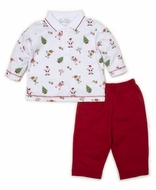 Kissy Kissy Baby Boys Red Holidaze Christmas Print Pant Set