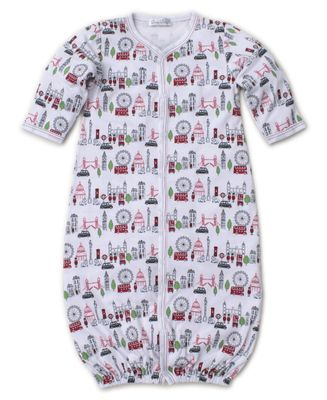 Kissy Kissy Baby Boys Red London Live Print Converter Gown