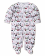 Kissy Kissy Baby Boys Red London Live Print Footie