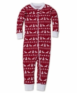 Kissy Kissy Baby Boys Red / White Christmas Reindeer Pajamas with Zipper