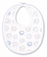 Kissy Kissy Baby Boys Shabby Sheep Bib - Blue