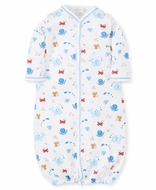 Kissy Kissy Baby Boys Under the Sea Print Converter Gown - Blue