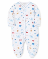Kissy Kissy Baby Boys Under the Sea Print Footie - Blue